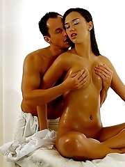 When Raven Haired Victoria Coaxes Her Man To Give Her A Long Sensual Massage The Lovers Are Caught U