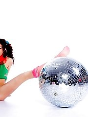 Mirror Ball From Dancing Halls Always Open Old Memories About Frantic Parties. This Teen Babe Knows