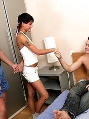 Swarthy Girlie Looses Her Virginity In This Set