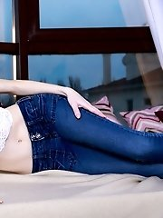 This Passionate Babe Just Loves To Get Down And Plenty Dirty With Boys Who Watch Her Playing In Fron