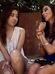 Mila Jade Takes Advice From Ariella Ferrera To Improve Her Blowjob Skills Before They Enjoy A Horny