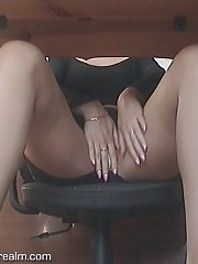 Upskirt panty voyeur and masturbation shots
