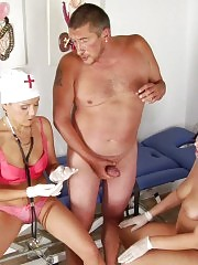 Petite milf doctor and her chubby subbies