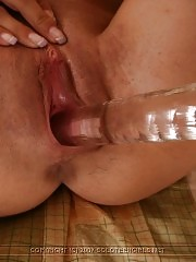 Sweetie masturbates with toy