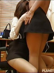 2 office girls in pantyhose having fun!
