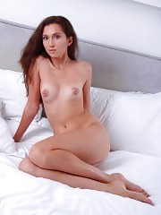 She shows her sexy body with of seriousness but expresses all the dirty things that she has in that lustful fantasy of hers.