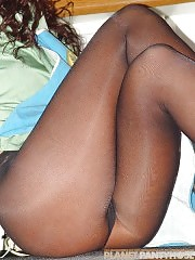 She's got legs and she is in pantyhose!