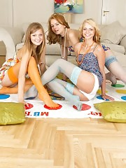 Seductive as well hot party time of three best girlfriends. Those teens really know how to get horny for the sake of mutual fun.