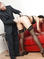 Dean humiliates and strips a teacher