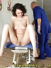 Humiliating washing before a gagged gyno exam