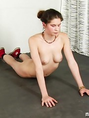 Nude yoga excites more than fitness