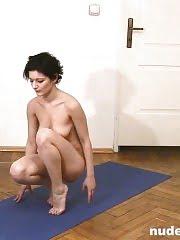 Naked Indian gymnastics by a flexy amateur