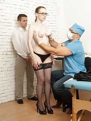 Gyno examination of a married frigid pussy