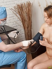 Whitehead gag used during a fetish gyno exam