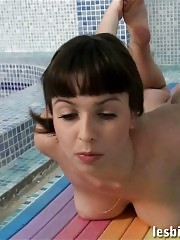 Stretching and fucking lesbian yoga girls