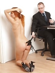 Crazy office pussy education and restriction