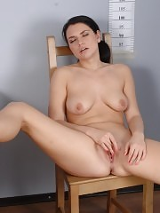 Gyno examined and dildoed interview bitch