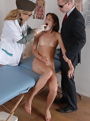 Two medical doms put down a test-girl