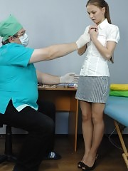 Obedient patient stripped to nothing by a dirty doc
