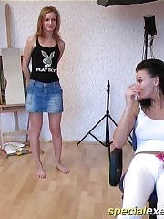 Bossy gymnastic pro auditions a submissive novice