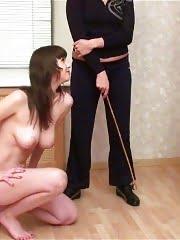 Despotic sport mistress breaks a busty gymnast