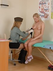 Measured and speculed naked army blondie