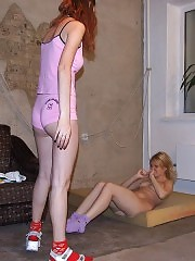 Merciless hoe teases hot acrobatic blonde