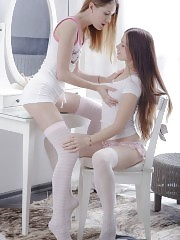 A lesbian photo gallery which features two absolutely mind blowing teen babes who can not stop pleasing each other.