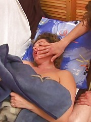 Naked sleeping housewife as a dutiful sex doll