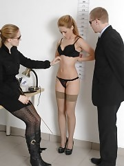 Undressed girl wants to get a good job