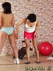 Breaking too fleshy and busty lesbian sport bitch