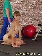 Trainer helps a girl get slimmer and cum