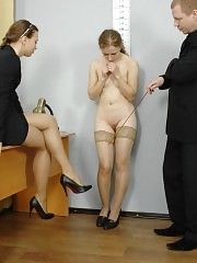 Shy candidate turns into a slave for dirty clerks