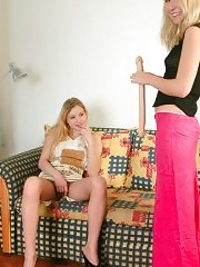 Doulbe-headed dildo serves for lesbians
