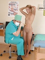 Clingy medical lewdster exams a cutie