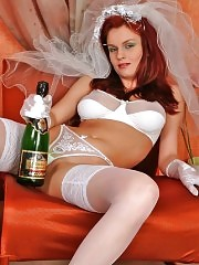 Busty bride likes to drink