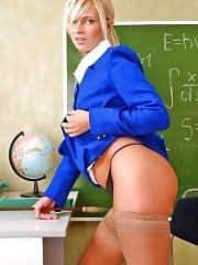 Horny teacher Camelia with globe