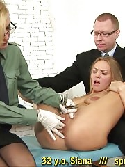 Strange customs procedures passed by a busty girl