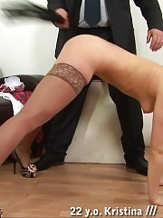Crazy spanking positions at the discipline session