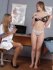 Sexy medical examination and medical lesbian sex