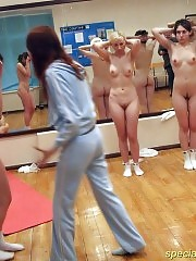 Coach makes naked gymnasts walk on knees