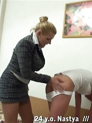 Lesbian mistress wants to have a spanking fun