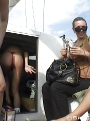 Sexpots in bikinis caught on yacht spy cam