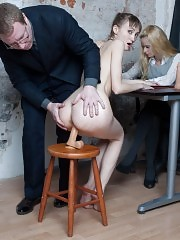 Staff perverts test a candidate till she comes