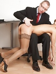 OTK paddling and slapping of a nude manager