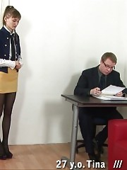 Boss wants to punish a secretary mercilessly