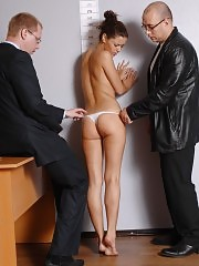 Business babe undressed and put to the dirty tests