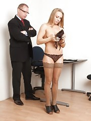 Slutty manager answering for her bad behavior