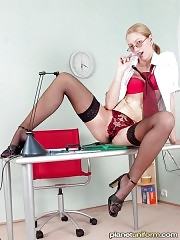 Check it out: maybe this sexy doll is your secretary?