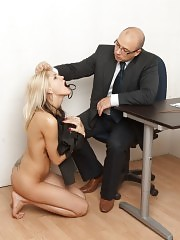 Office punishment with butt slapping and nipple castigation